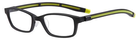 黒 スクエアのスポーツメガネ