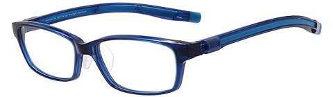 青 スクエアのスポーツメガネ