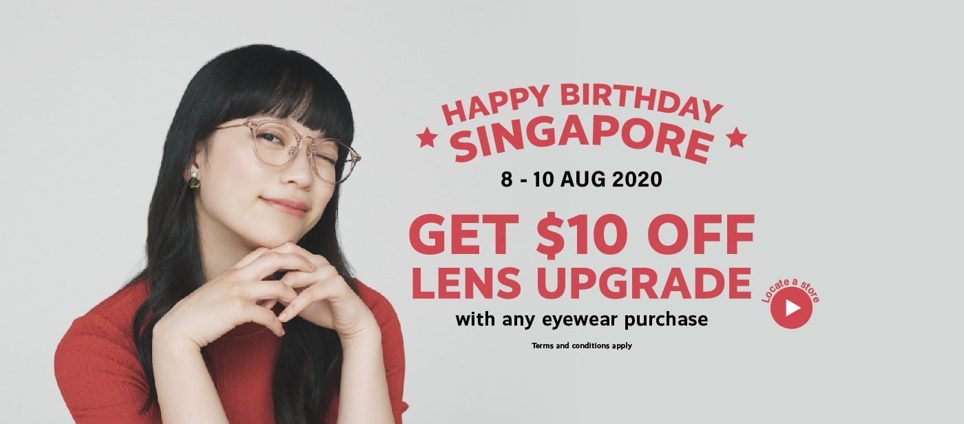Zoff Flash Sale National Day Eyewear Optical Spectacles $10 Off Lenses With Eyewear Purchase
