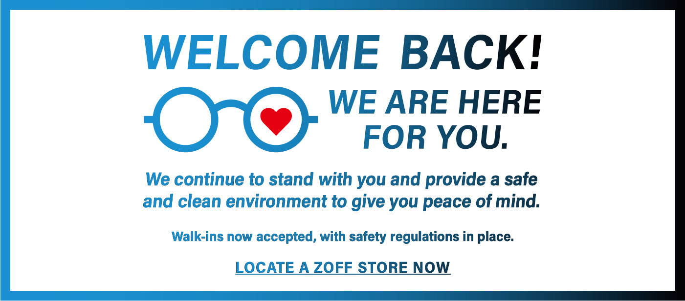 Zoff Welcome Back We Are Here For You Book Appointment
