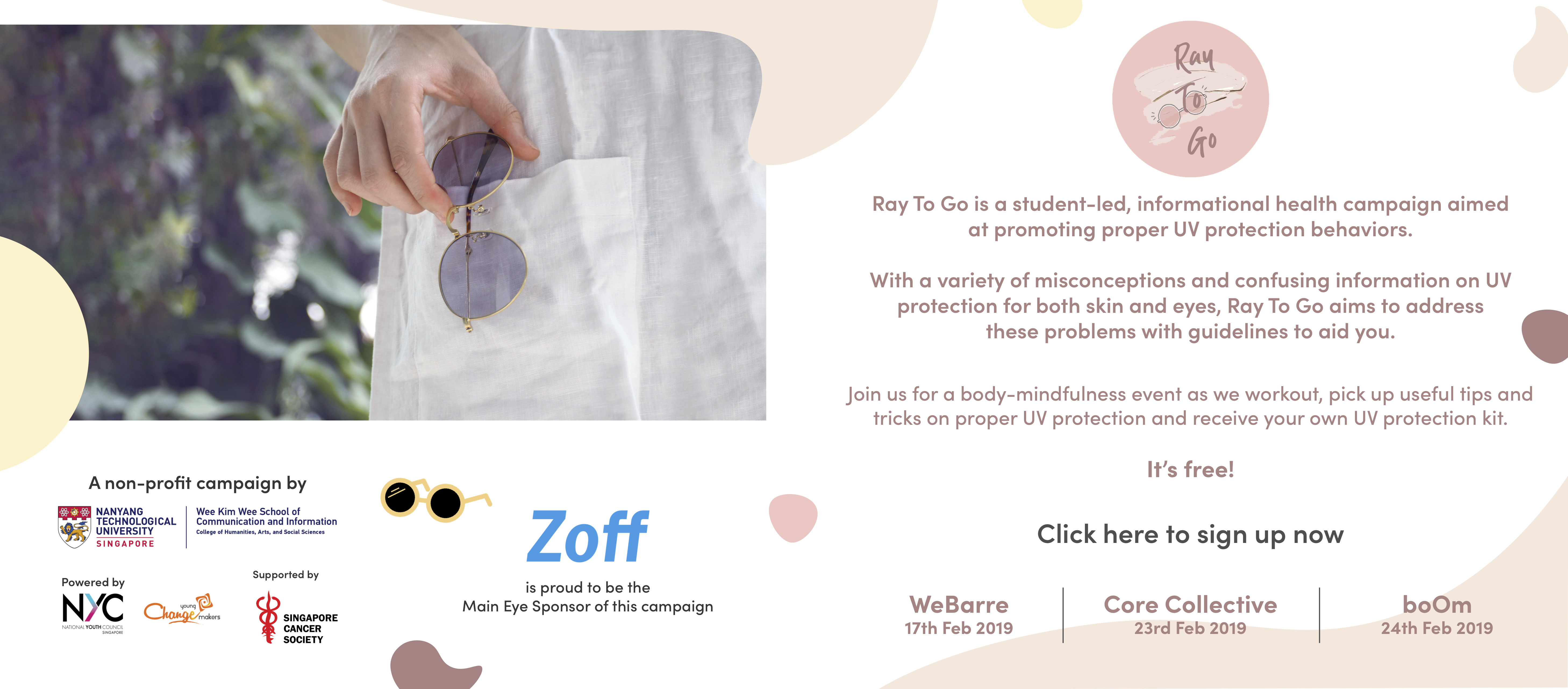 Zoff Ray To Go UV Protection Eye Care Programme