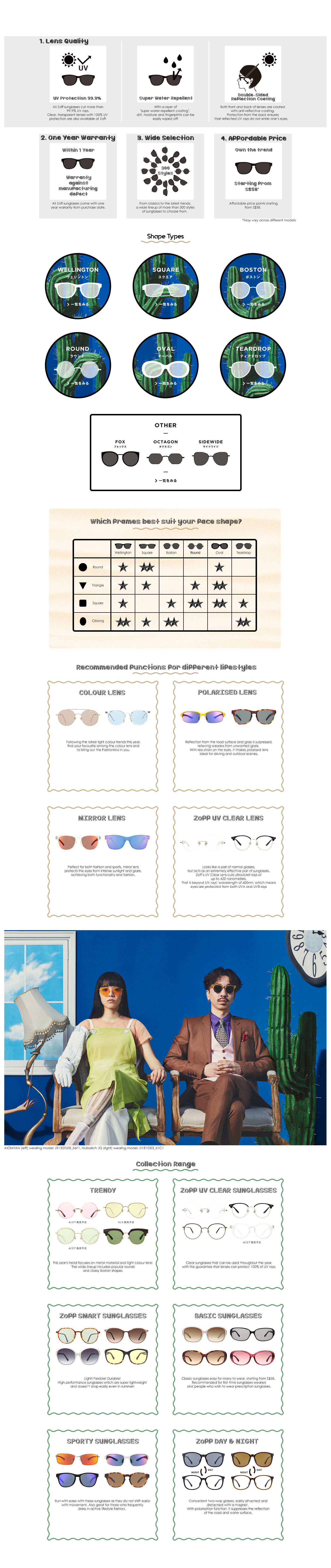 Zoff Collection - Sunglasses Summer 2018