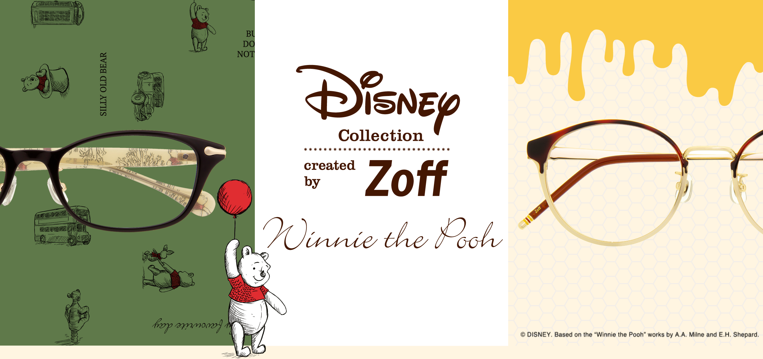 Disney Collection by Zoff - Winnie the Pooh glasses and spectacles_Christopher Robin