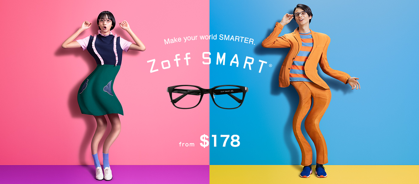 Zoff SMART Collection_2019_Eyewear Glasses_Light Flexible Tough Comfortable Spectacles_Japanese High Quality