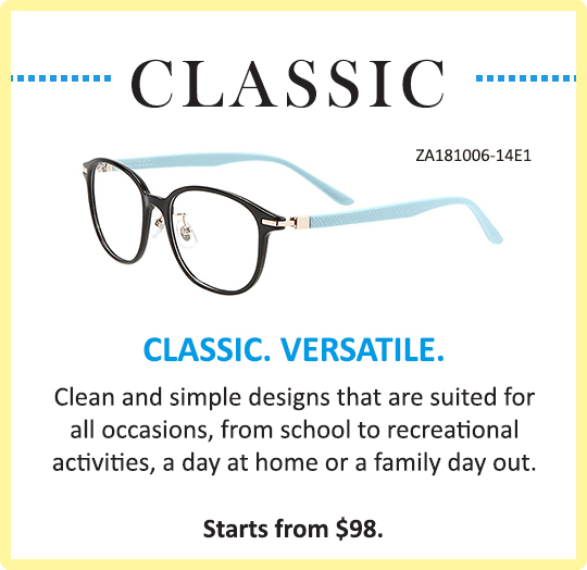 Zoff Classic for Zoff Kids Glasses Eyewear Simple Clean Designs