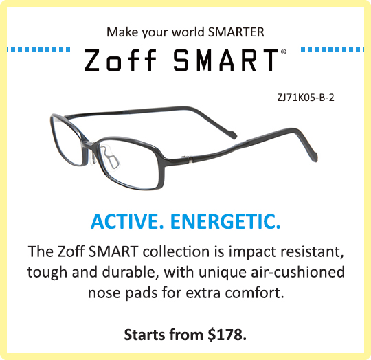 Zoff Kids Zoff SMART Collection Glasses Eyewear Tough Durable Active