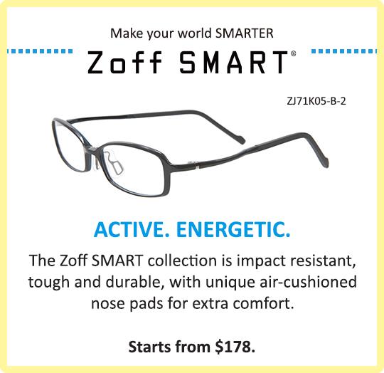 Zoff Kids Zoff SMART Collection Glasses Eyewear Tough Durable Active