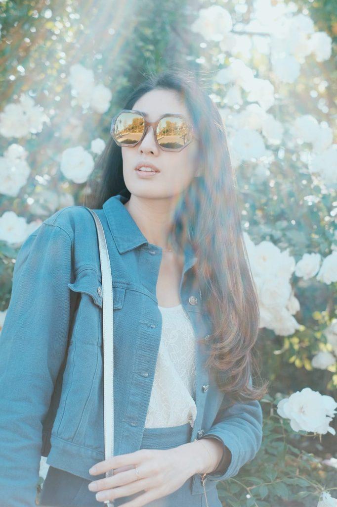 Kimberly Wang_Lazy Day Style_Large Oversized Sunglasses_Polygonal Frame_Sunglasses 2019