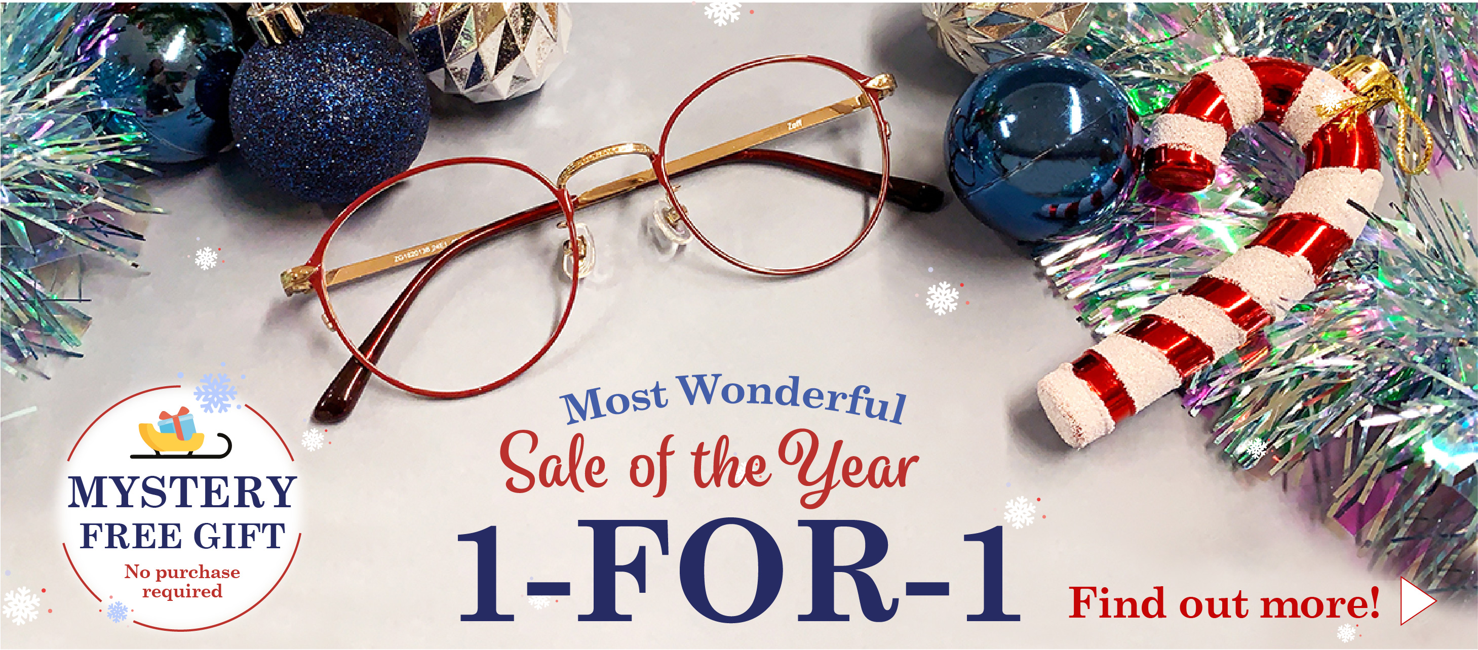 Zoff Most Wonderful Christmas Sale 2019 1 For 1 with Free Gift In Store