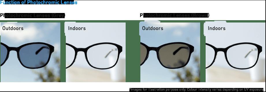 調光レンズの機能